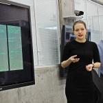 Language Technologies final projects: IT students Tatiana Svistova (front) and Anastasia Pukalova presenting their work.
