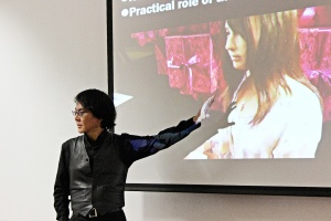 """Hiroshi Ishiguro at Skoltech: """"Thanks to androids we develop new advanced technologies. But they are also crucial in helping us reach new insights into the human condition. A robot makes us wonder: what is an identity?"""""""