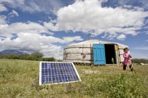 Mongolian Family Uses Solar Energy to Power Home