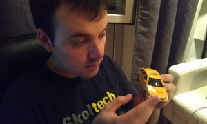 Andrii Omelianovych, co-founder and developer of Sharxi, an app which aims to reduce the costs of taxi rides in Moscow. Image courtesy of Sharxi