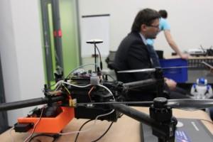 Professor Tsetserukou in the new robotics lab