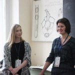 "Discussion of a problem ""Without Electrophoresis"". Ksenia Ershova as a reviewer. On the left an opponent from Siberian State Medical University."