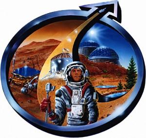 The logo of The Mars Society