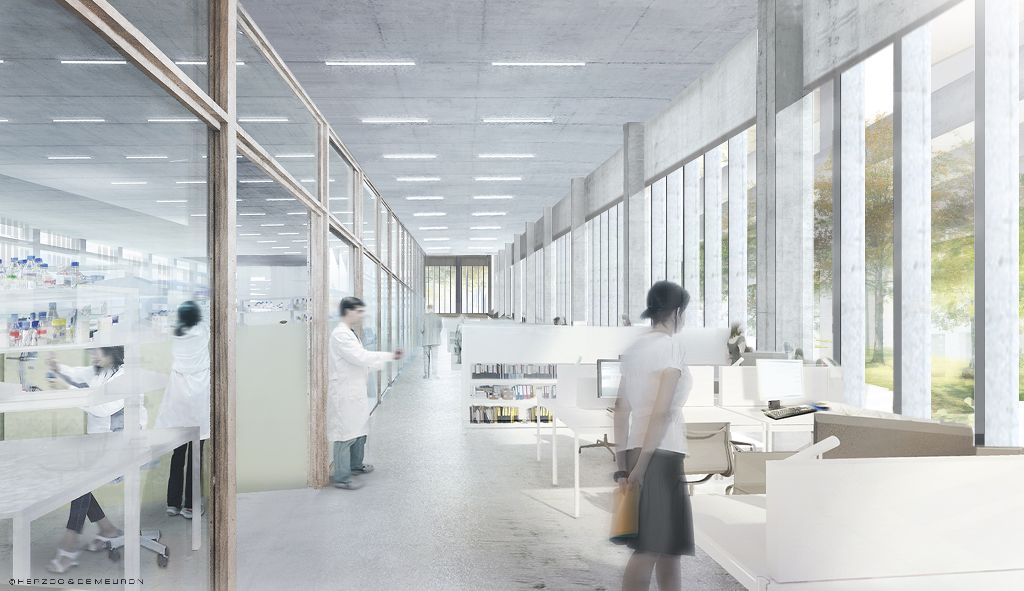 An artist's impression of a fully functional Skoltech CRE (Center for Research, Education and Innovation). image courtesy of Herzog and de Meuron Architects)